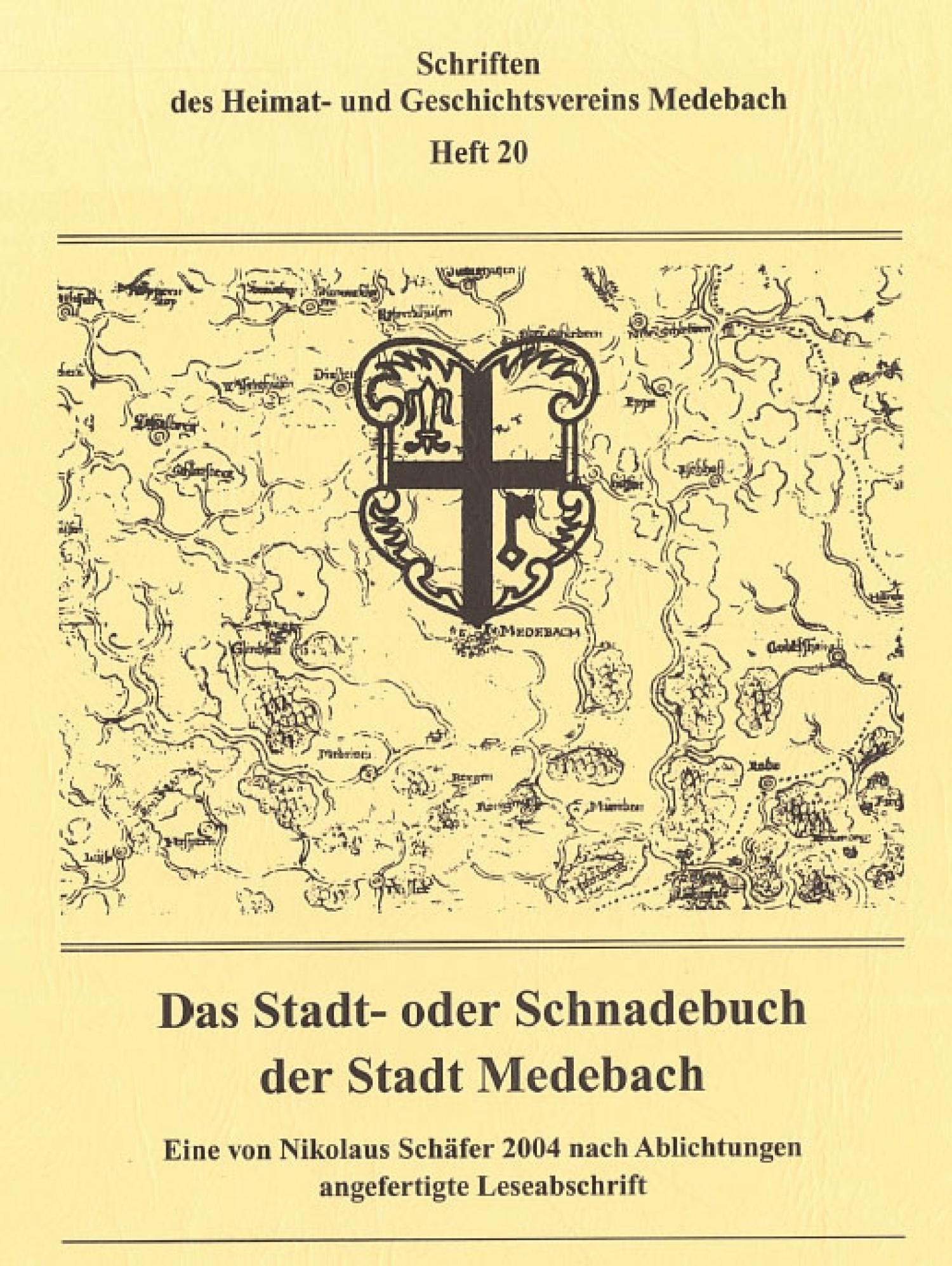 Das Stadt- oder Schnadebuch der Stadt Medebach