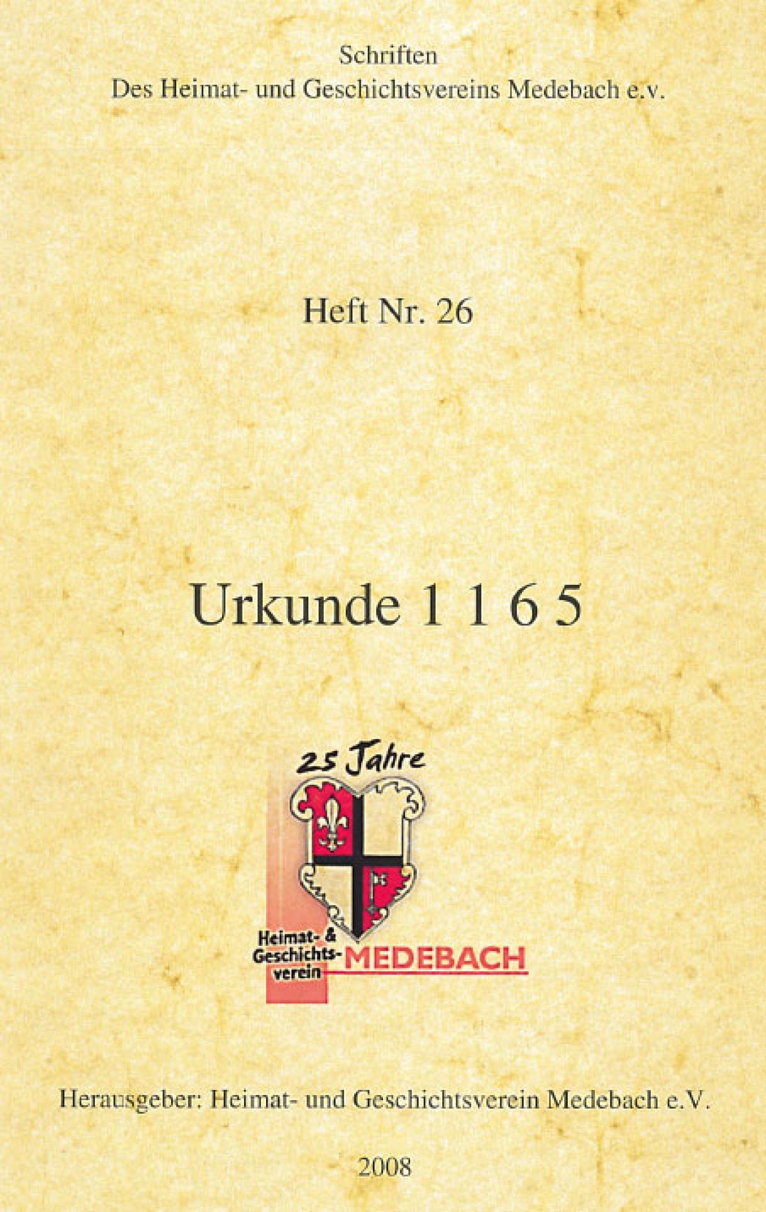 Urkunde 1165